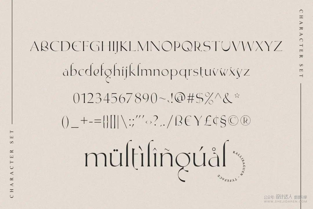 个人免费!现代酸性风格字体 Rallisaguen