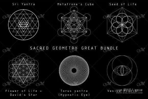 12个威严的几何图形点缀元素