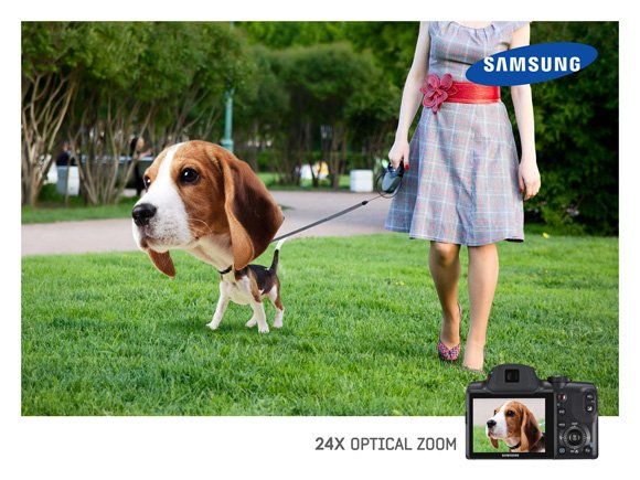 Samsung: Optical Zoom, Dog
