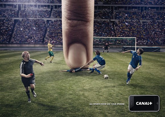 Canal+: iPhone, Football