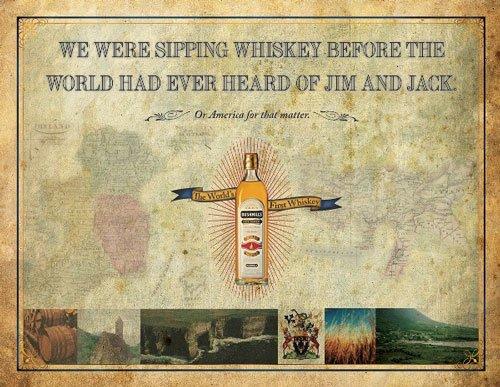 Bushmills Irish Whiskey 平面广告设计-设计欣赏-UCD素材网