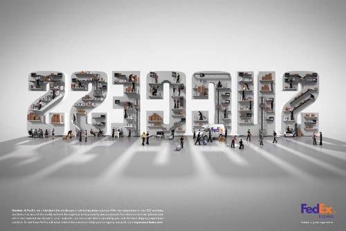 FedEx-30张超创意平面广告设计欣赏