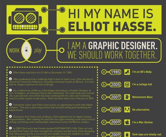 25个很有创意的个人简历设计欣赏