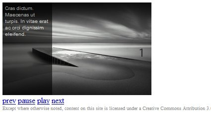 jQuery Image Gallery/News Slider with Caption Tutorial