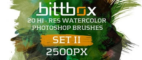 High-Res Watercolor Brushes - Set II