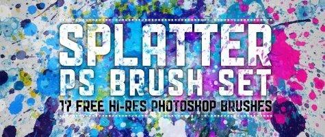 High-Res Splatter Brush Set