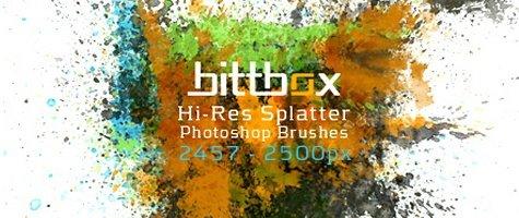 High-Res Splatter Brushes