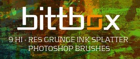 Grunge Ink Splatters