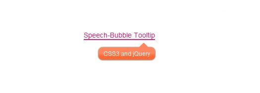 Speech Bubble Tooltip Using CSS3 and jQuery