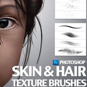 Skin & Hair 8 Brushes