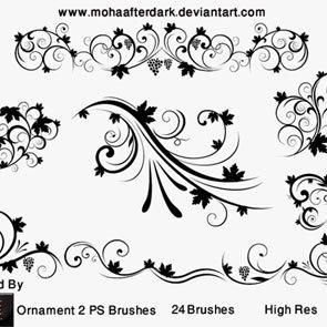 Ornament 2 24 Brushes