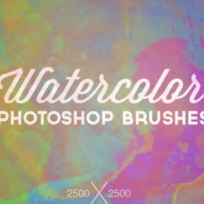 High-Res Watercolor 8 Brushes