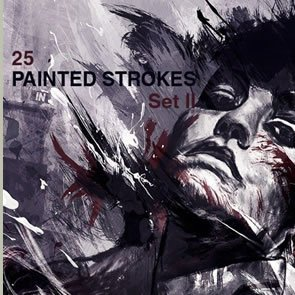 High-Res Paint Strokes 25 Brushes