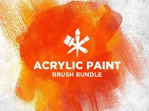 Acrylic Paint 5 Brushes