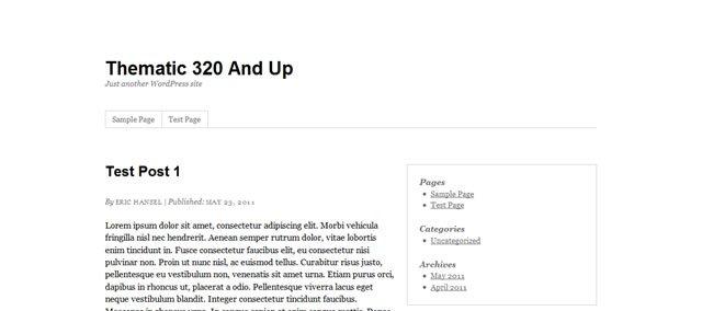 Thematic 320 and Up (WordPress Child Theme)