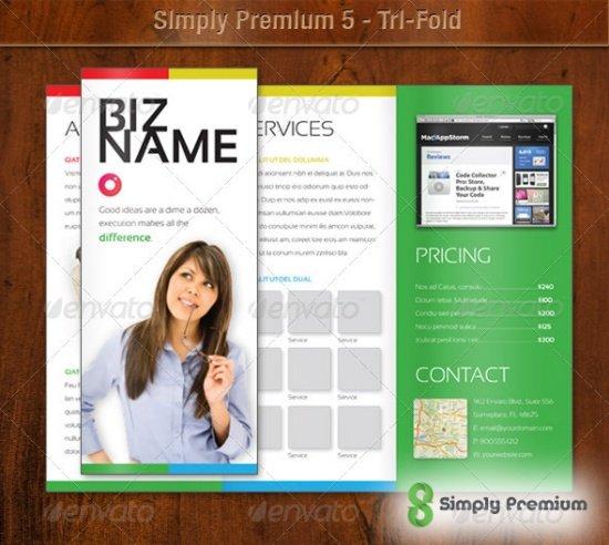Simply Premium 5 - Tri-Fold Brochure