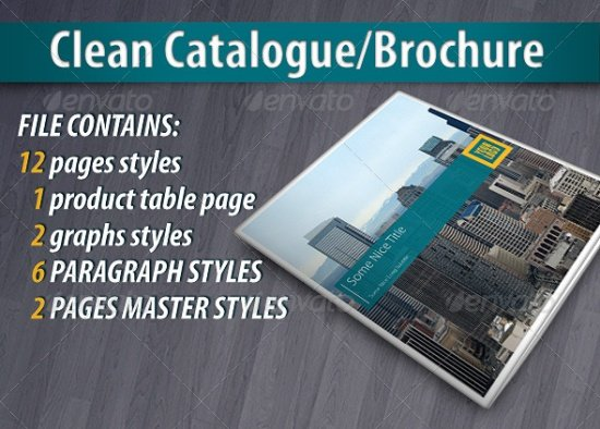 Clean Catalogue Brochure
