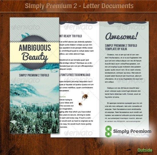 Simply Premium 2 - Tri Fold Brochure