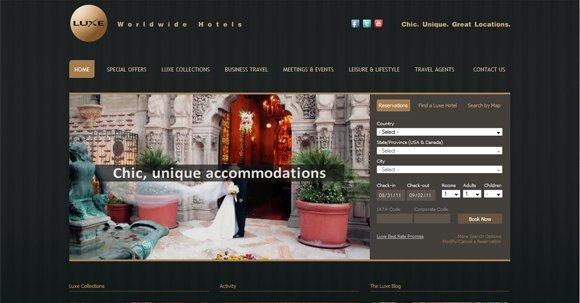 20个优秀的旅游及酒店网站设计欣赏