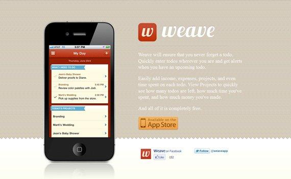 Weave-iphone-app-web-design-inspiration