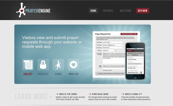 Prayer-engine-iphone-app-web-design-inspiration