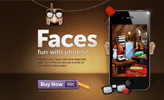Faces-iphone-app-web-design-inspiration