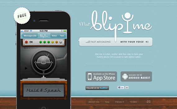 Blipme-iphone-app-web-design-inspiration