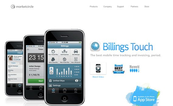 Billings-iphone-app-web-design-inspiration