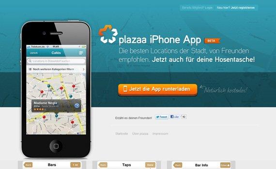 Plazaa-iphone-app-web-design-inspiration