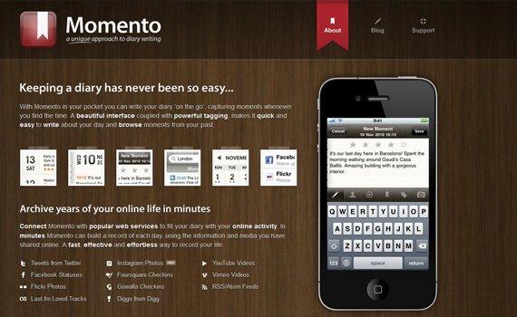 Momento-iphone-app-web-design-inspiration