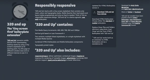 Responsive Web Design Templates and Frameworks
