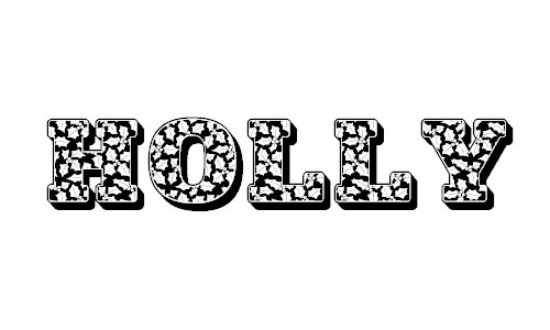Holly Nites font