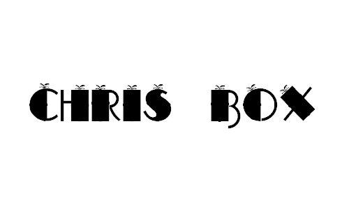 CHRIS BOX font