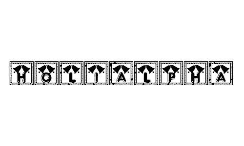 Holialpha font