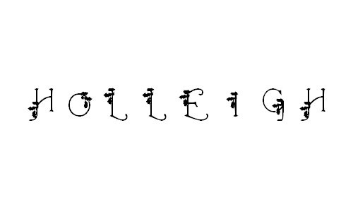 HolLeigh Caps font