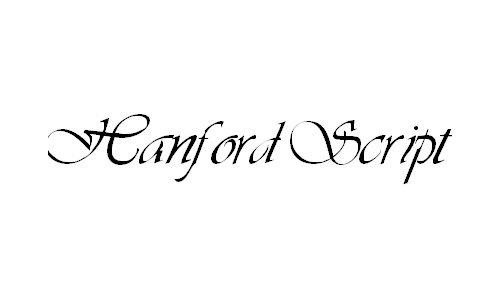 Hanford Script font