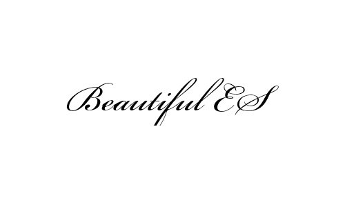 Beautiful ES font