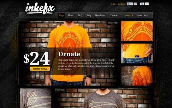 25个漂亮的电子商务网站
