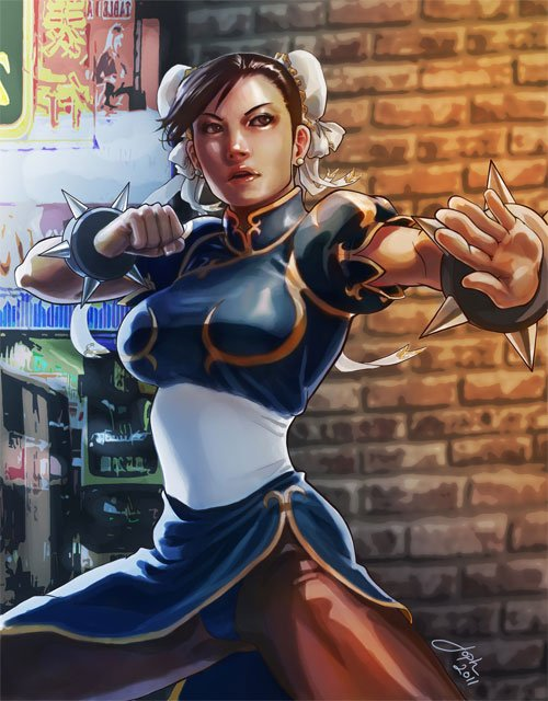 Chun-li: SF Cover Art