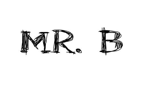 Mr. B font