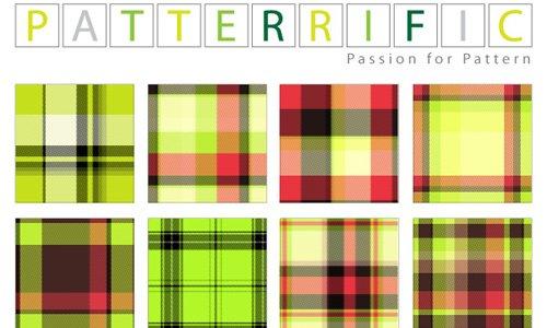 Seamless Patterns Green Pink Plaid