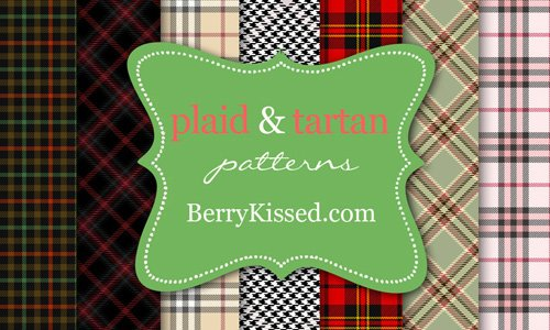 24 Tartan Plaid and Houndstooth Pattern Pack