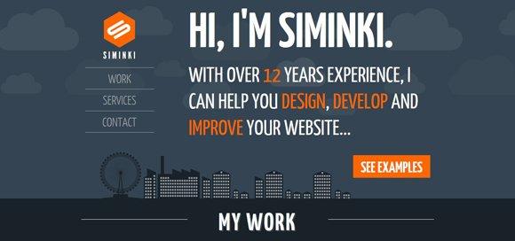 31个漂亮的作品展示网页设计
