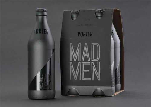 Mad Men Beer Packaging Design