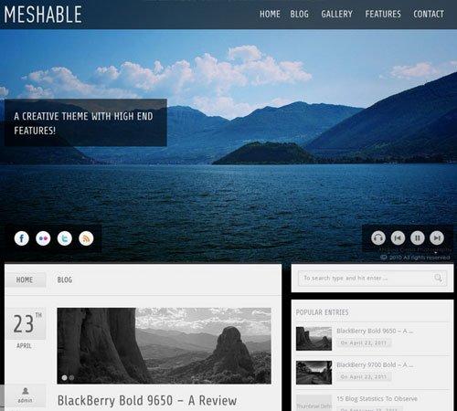 Meshable - Photography & Personal Fullscreen Theme