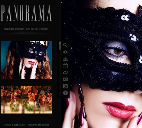 Panorama Fullscreen Photography WordPress Theme