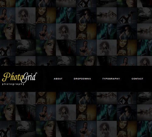 PhotoGrid - One Page Ajax Photography WP Theme
