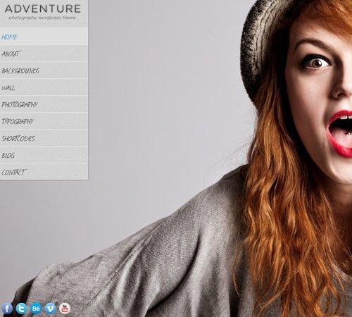 Adventure - A Unique Photography WordPress Theme