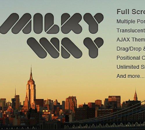 Milky Way - Full Screen Professional Portfolio