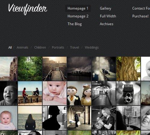 Viewfinder: Photography WordPress Theme